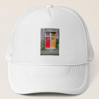 Boné Portas vermelhas e amarelas Holland da fotografia