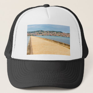 Boné Porto grego Argostoli da cidade com a estrada na