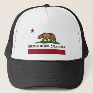 Boné praia imperial da bandeira de Califórnia