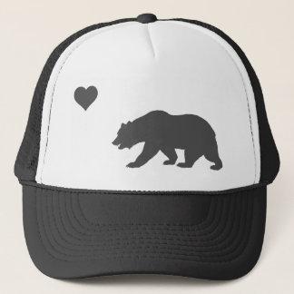 Boné Prata do amor de Califórnia e chapéu preto do
