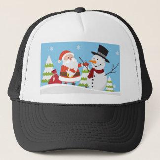 Boné Presente bonito do Xmas do Natal do boneco de neve