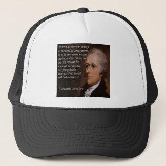 """Boné """"Presente do líder inimigo"""" de Alexander Hamilton"""