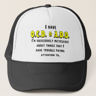 Boné Preto/amarelo de OCD-ADD
