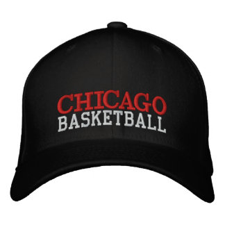 Boné preto do basquetebol de CHICAGO