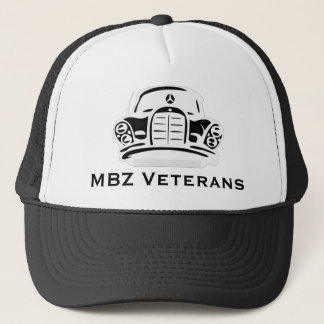 Boné Preto do chapéu dos veteranos de MBZ pro