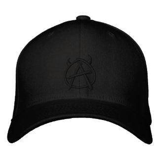 Boné Preto do logotipo da anarquia no preto