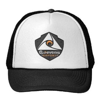 Boné preto e branco com logotipo