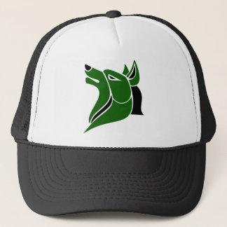 Boné Preto e cabeça contínua verde do lobo da DK