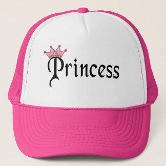 Boné Princesa Texto com coroa
