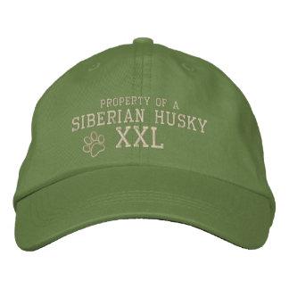Boné Propriedade de um chapéu bordado do rouco Siberian