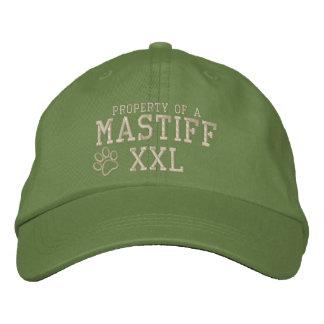 Boné Propriedade de um chapéu bordado Mastiff