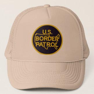 Boné proteção da beira da patrulha fronteiriça