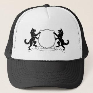 Boné Protetor heráldico da crista da brasão dos cães