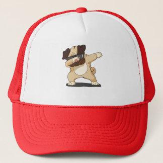 Boné Pug de toque ligeiro legal com o chapéu da camisa