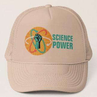 Boné Punho do poder da ciência & átomo retro no