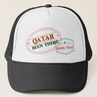 Boné Qatar feito lá isso