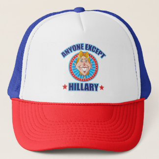 Boné Qualquer um excetua Hillary Anti-Clinton
