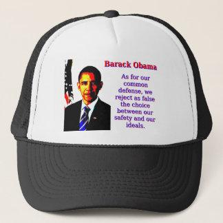 Boné Quanto para a nossa defesa comum - Barack Obama