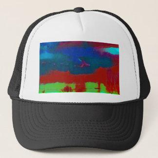 Boné Queda colorida céu abstrato tonificado do