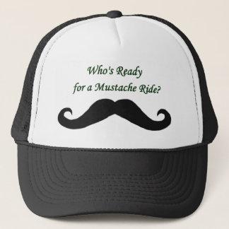 Boné Quem está pronto para um passeio do bigode?