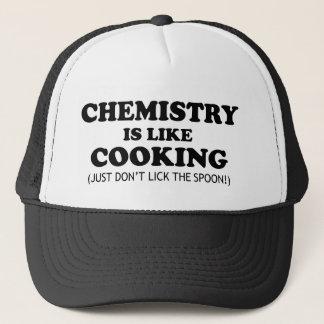 Boné Química que cozinha citações engraçadas da ciência