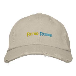 Boné Rebobinação retro chapéu afligido do estilo