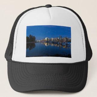 Boné Reflexão azul da hora de Vancôver BC