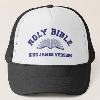 Boné Rei James Versão da Bíblia Sagrada no azul