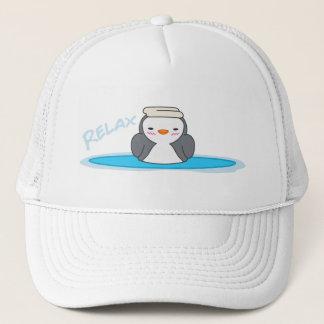 Boné Relaxe o chapéu bonito do camionista do pinguim