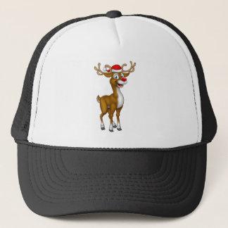 Boné Rena do Natal no chapéu do papai noel