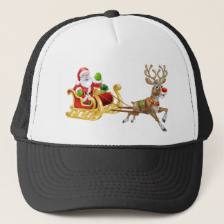 Boné Rena do trenó do trenó de Papai Noel do Natal