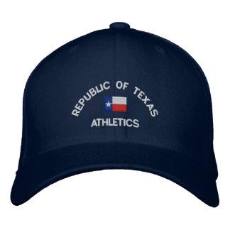 Boné República do chapéu bordado personalizado de Texas