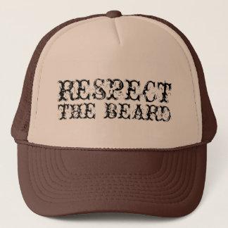 Boné Respeite o chapéu do camionista da barba para