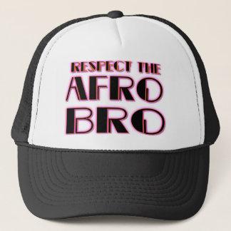 Boné RESPEITE o preto de Bro- PNK do AFRO