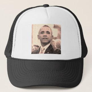 Boné Retrato abstrato do presidente Barack Obama 30x30