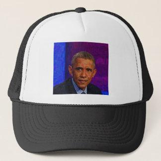 Boné Retrato abstrato do presidente Barack Obama 7