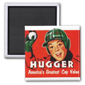 Boné retro de Hugger Americas do kitsch do vintage Ímã Quadrado