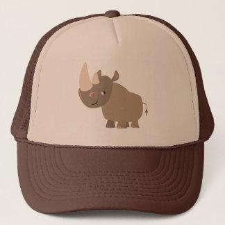 Boné Rinoceronte quieto bonito dos desenhos animados