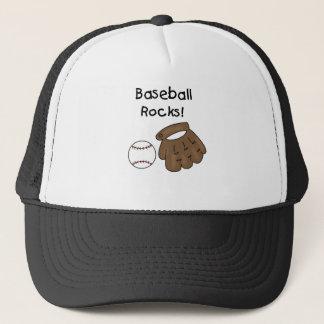 Boné Rochas do basebol da luva e da bola