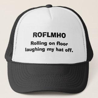 Boné ROFLMHO, rolando no assoalho que ri meu chapéu