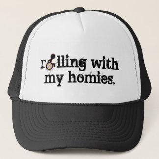 Boné rolamento com meu chapéu dos homies