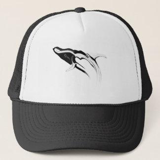Boné Rompendo o desenho da baleia de Humpback