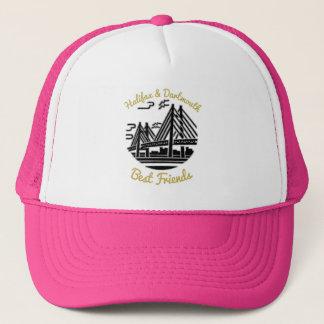 Boné Rosa do chapéu do camionista dos melhores amigos