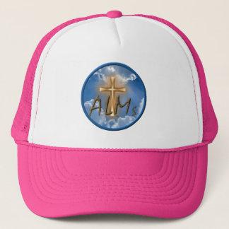 Boné Rosa do chapéu do logotipo da esmola