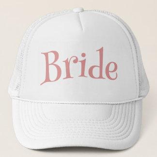 Boné Rosa e branco da noiva