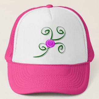 Boné Rosa estilizado e chapéu dos redemoinhos