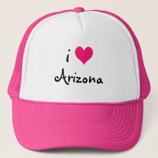 Boné Rosa eu amo o chapéu da arizona