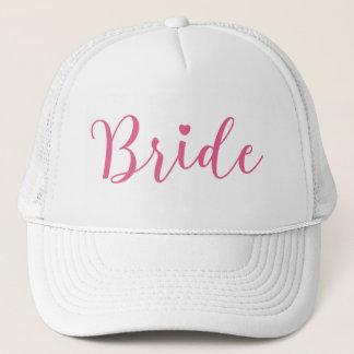 Boné Roteiro cor-de-rosa da noiva simples & elegante