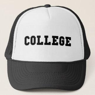 Boné Rotulação preta da faculdade