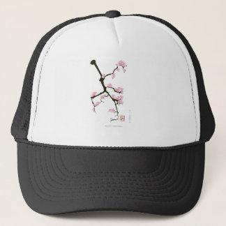 Boné sakura com os pássaros cor-de-rosa por fernandes